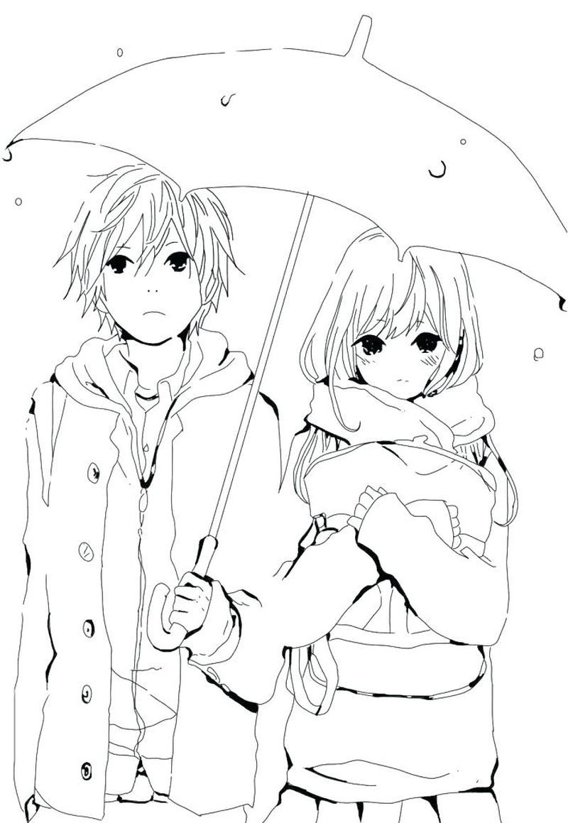 Anime Girl Coloring Pages Kawi