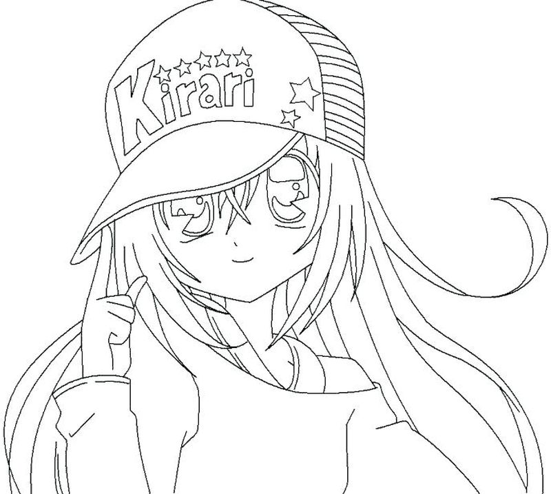 Anime Girl Coloring Pages To Color On Computer