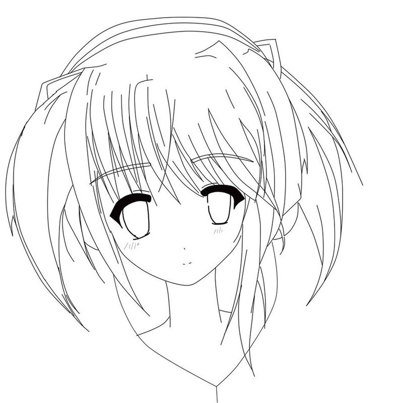 Anime Girl Coloring Pages With Dress