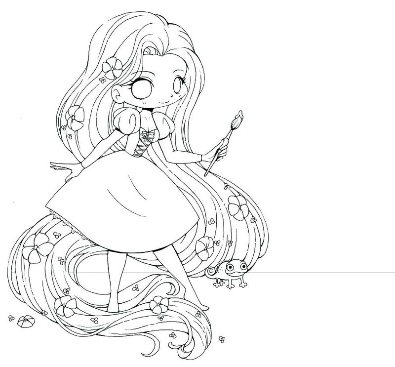 Anime Girl Demon Coloring Pages