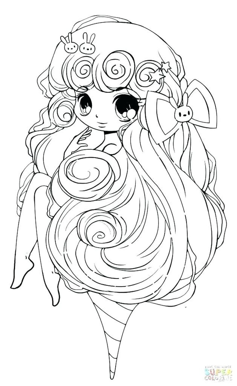 Anime Girl Sexy Coloring Pages