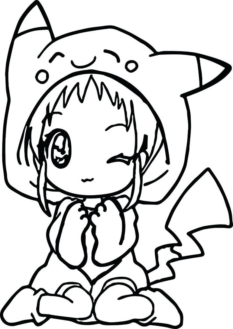 Anime Girl With Headphones Coloring Pages