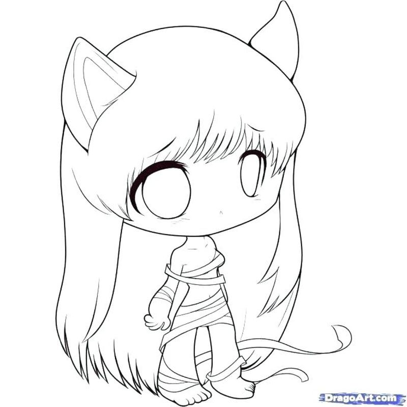 Anime Girl With Shamrock Dress Coloring Pages