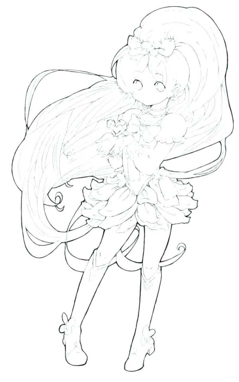 Anime Girl With Wings Coloring Pages