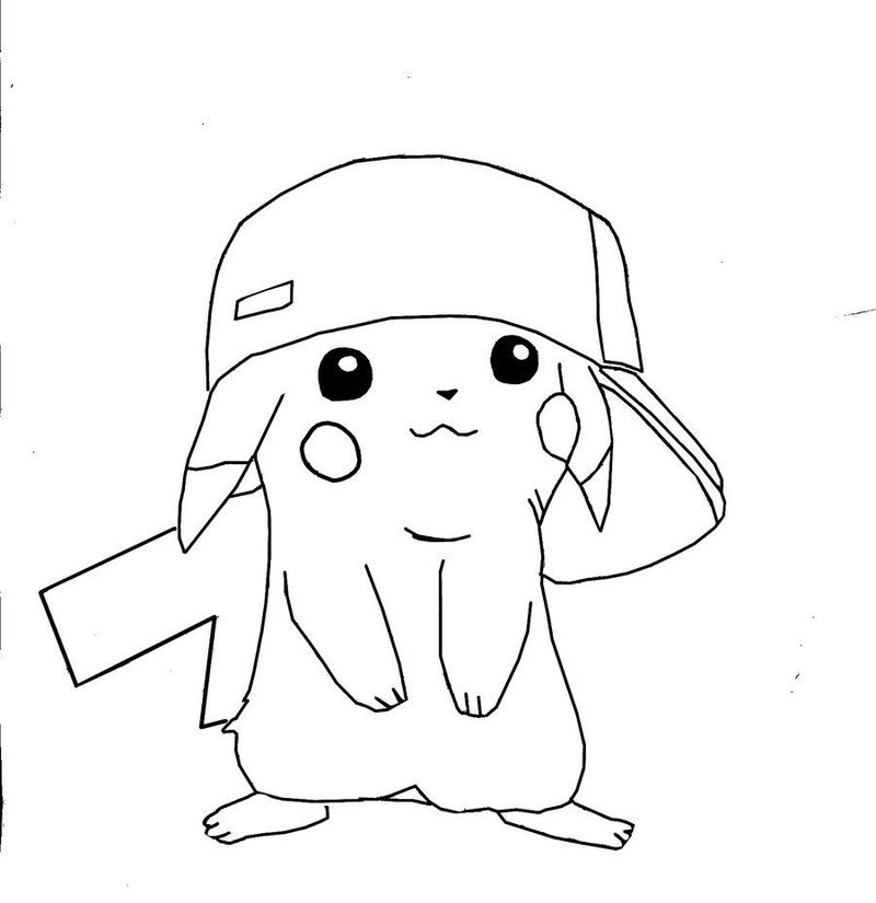 Anime Pikachu Girl Coloring Pages