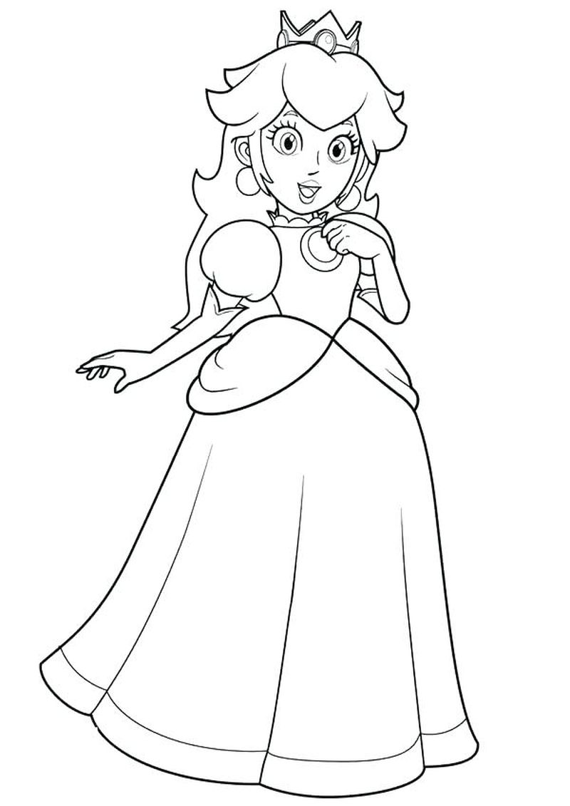 Anime Princess Coloring Pages