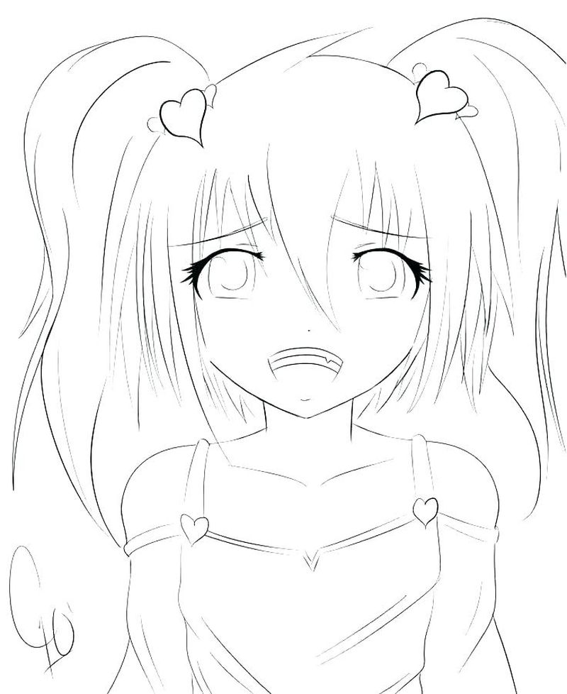 Anime Princess Girl Coloring Pages