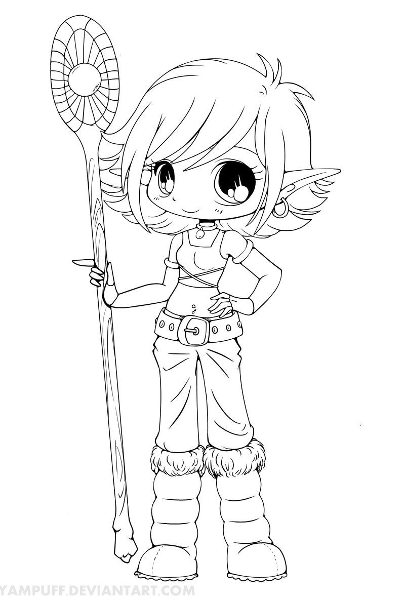 Anime Vampire Girl Coloring Pages