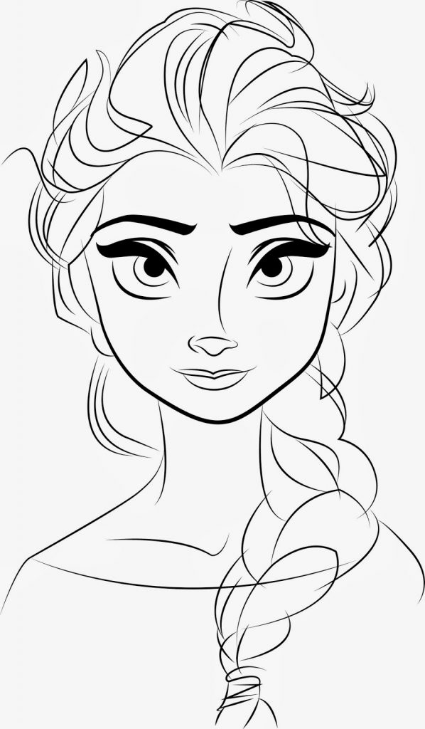 Anna And Elsa Coloring Pages Online