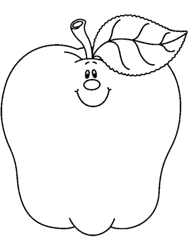 Apple Coloring Page Free Dowload
