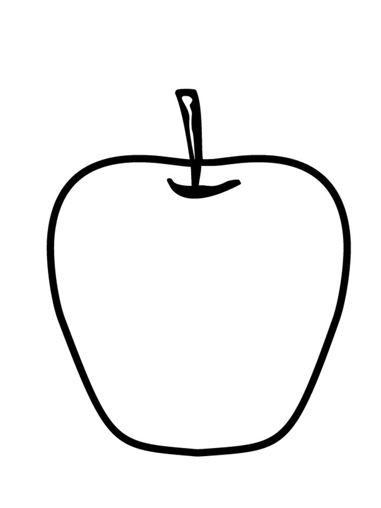 Apple Coloring Page Free Printable Download