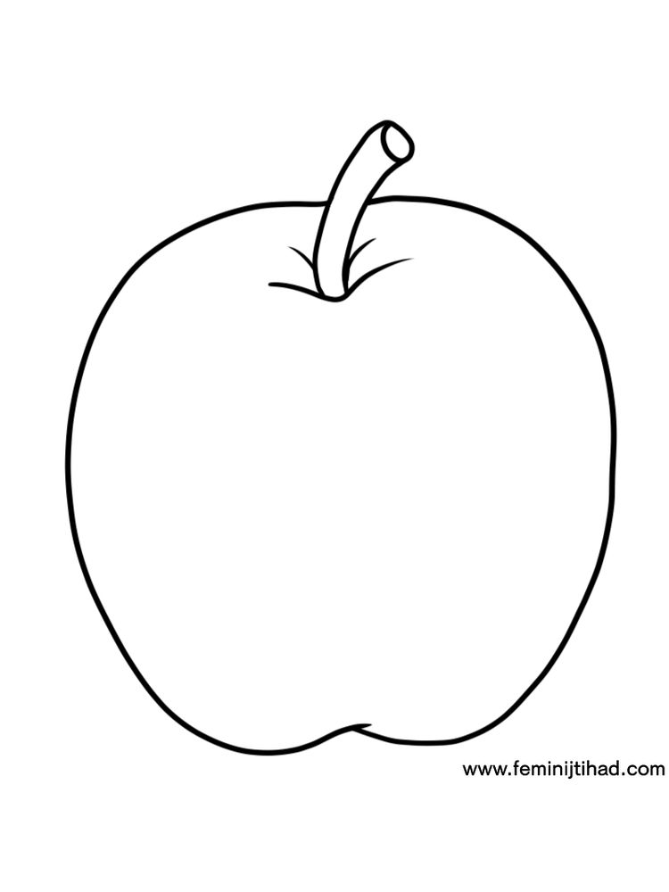 Apple Coloring Page Free