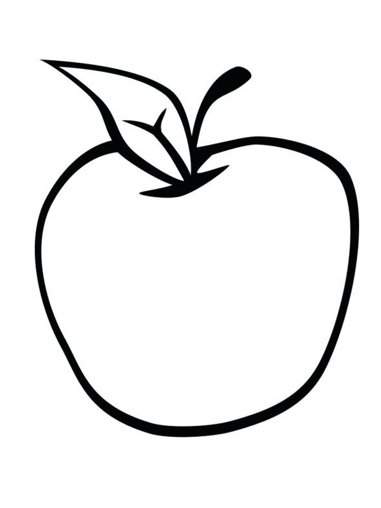 Apple Coloring Page Image Free