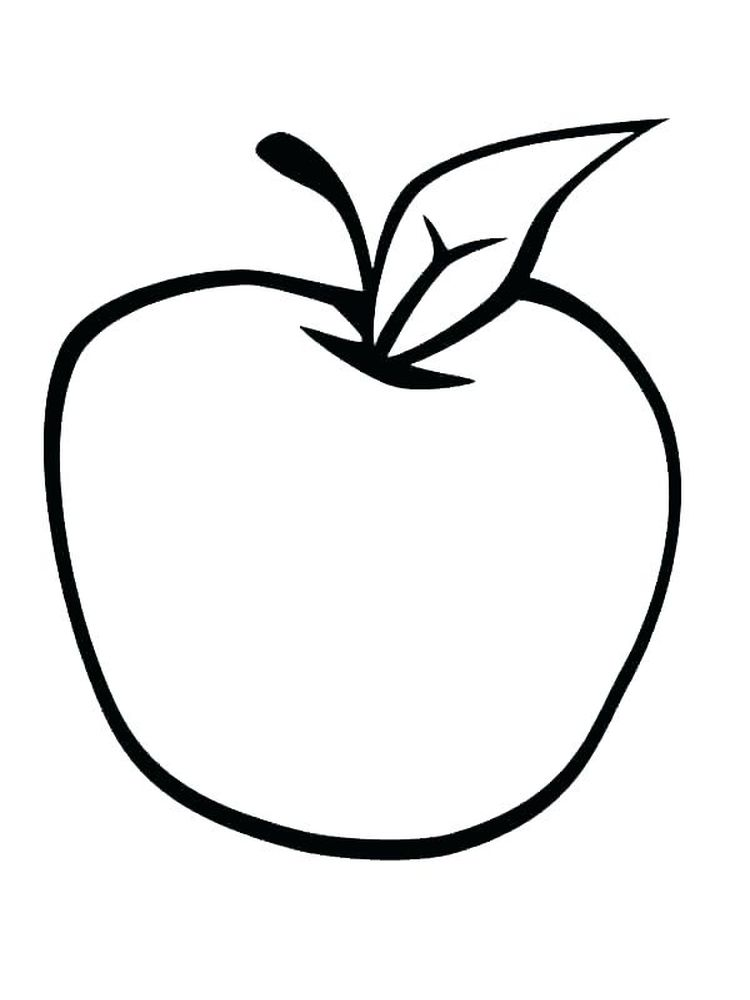 Apple Coloring Page Template Pdf