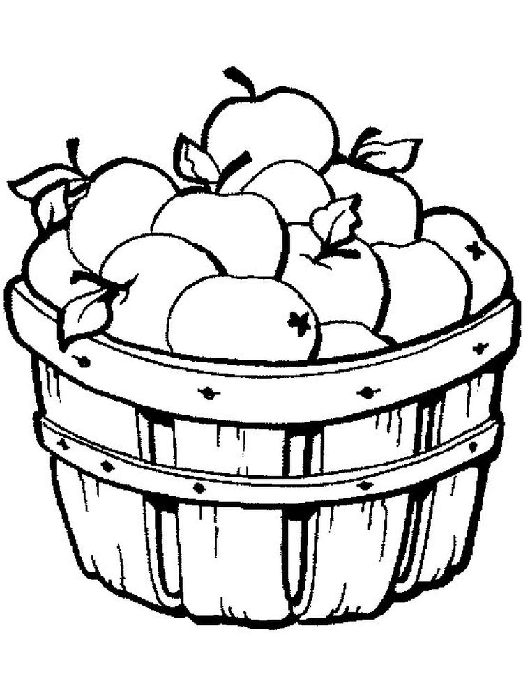 Apple Coloring Page To Print Free
