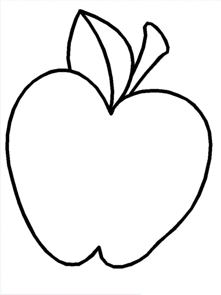 Apple Coloring Pages For Adults Free