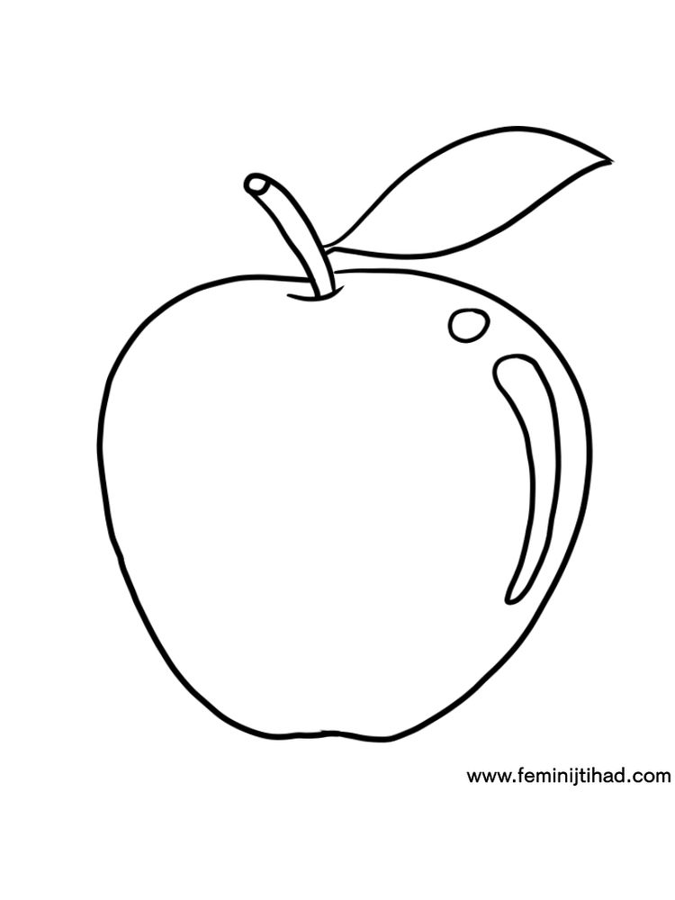 Apple Coloring Pages For Kindergarten Free