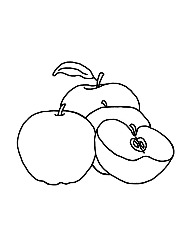 Apple Coloring Pages For Preschoolers Free Pdf