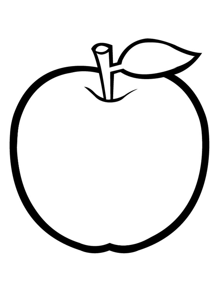 Apple Coloring Pages For Preschoolers Pdf