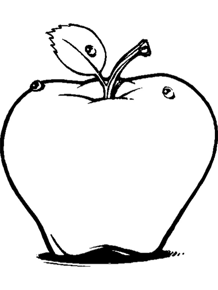 Apple Coloring Pages For Toddlers Free