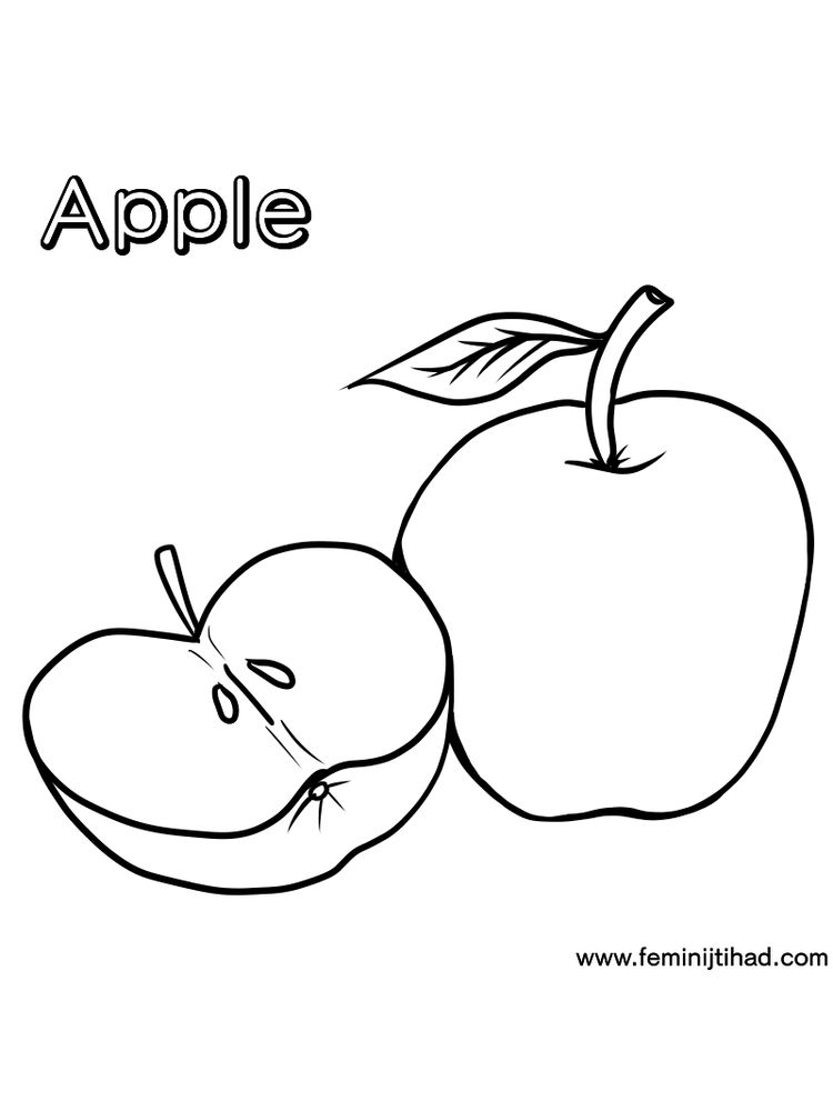 Apple Coloring Pages Free Pdf
