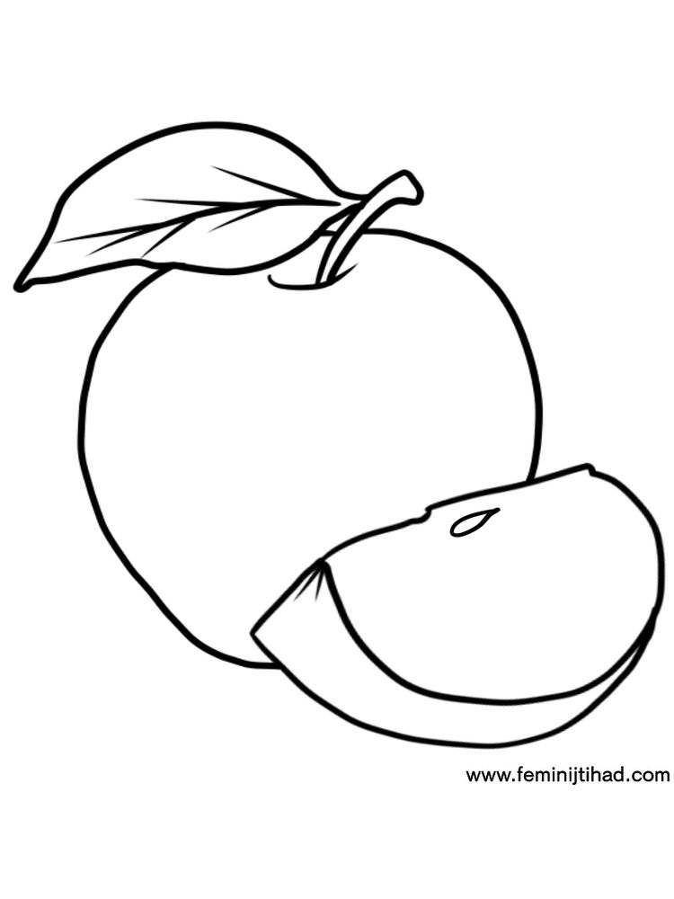 Apple Coloring Pages Printable Free
