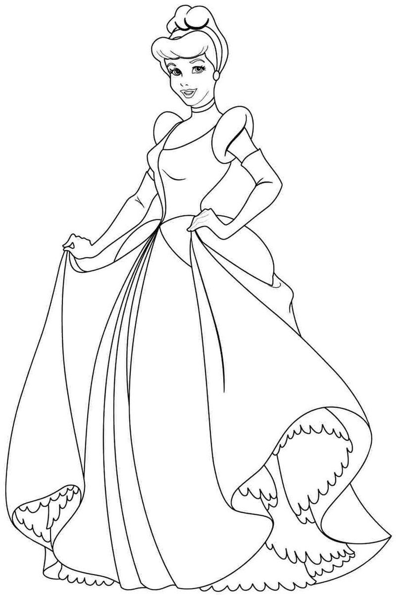 Ariel Coloring Pages For Kids Printable