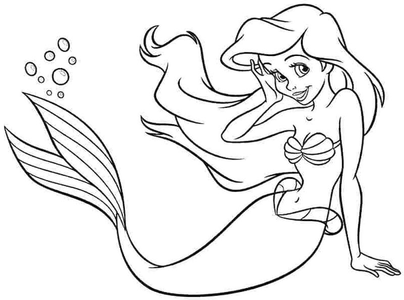 Ariel Coloring Pages Free