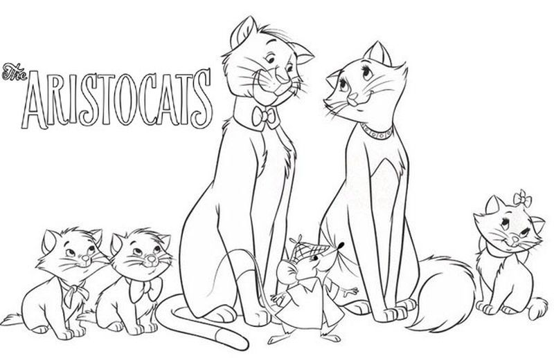 Aristocats Coloring Pages To Print
