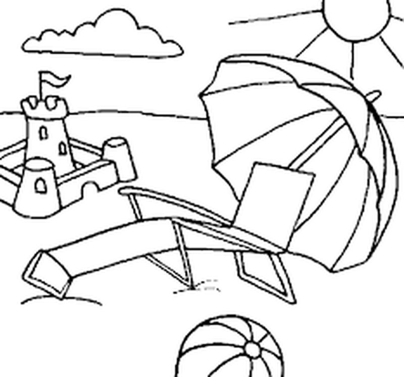 At The Beach Coloring Pages