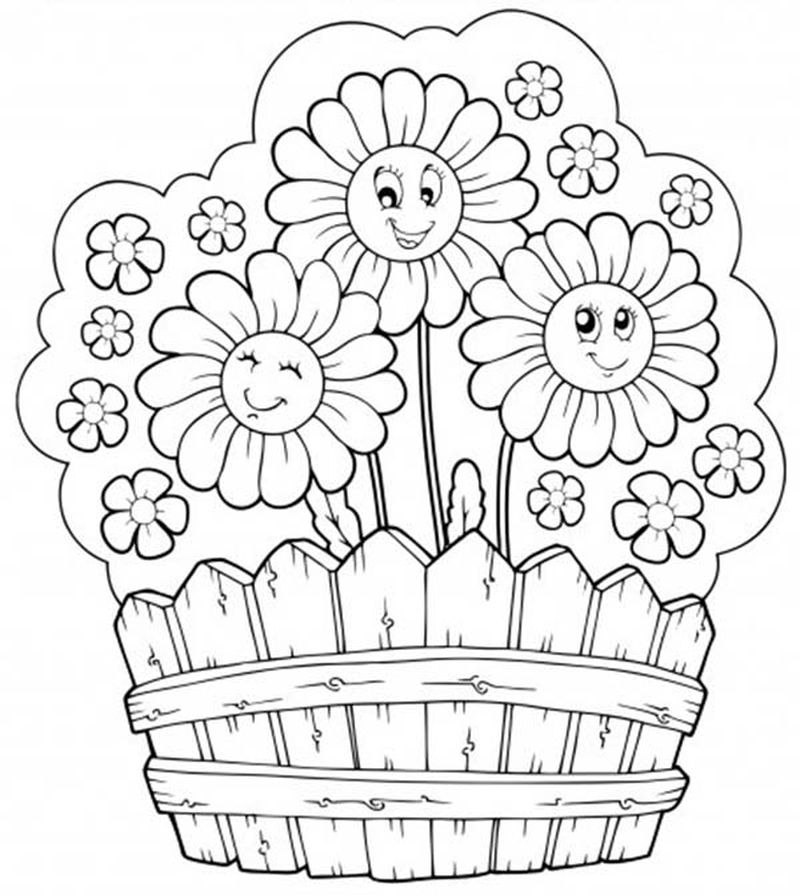 Autumn Flowers Coloring Pages