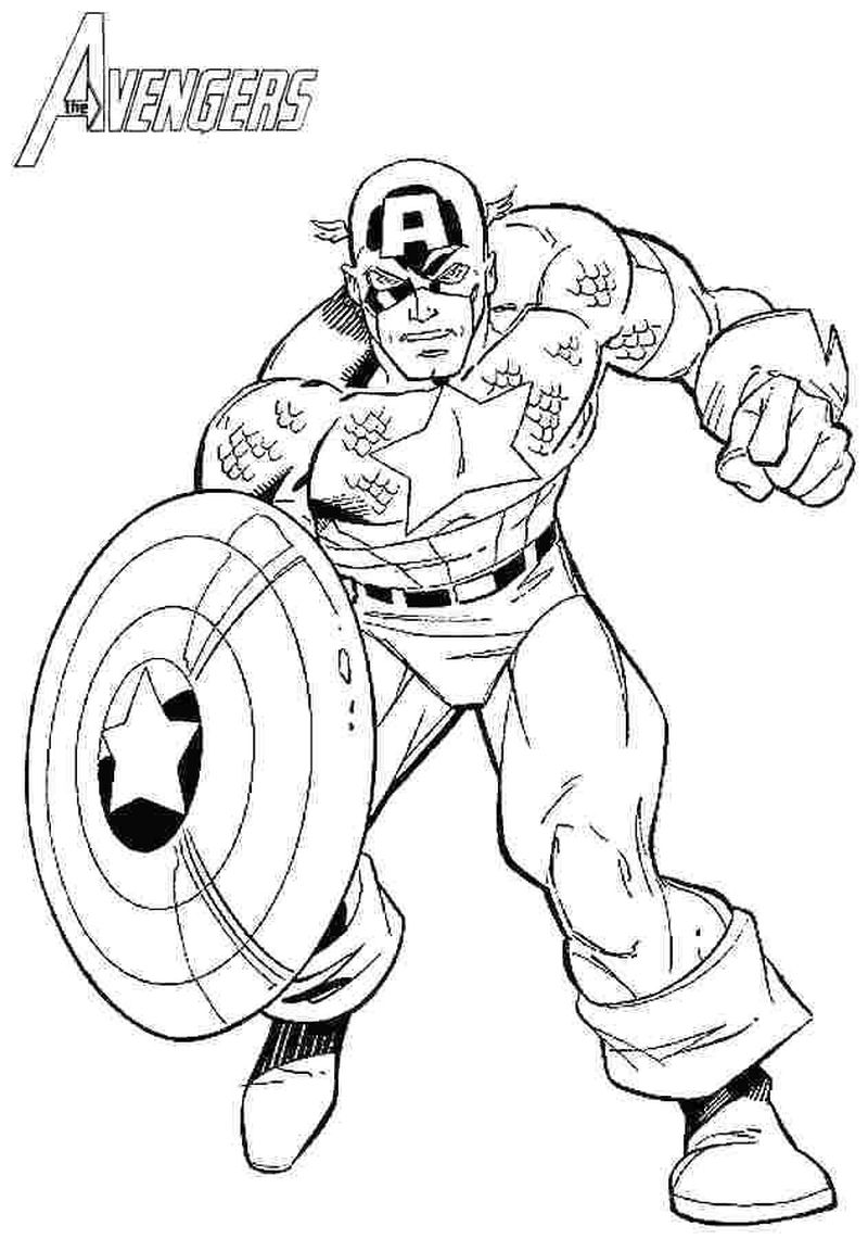 Avengers Age Of Ultron Coloring Pages Captain America