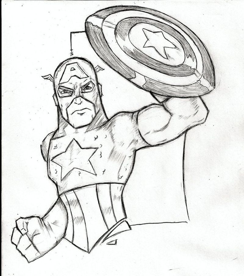 Avengers Captain America And Iron Man Coloring Pages