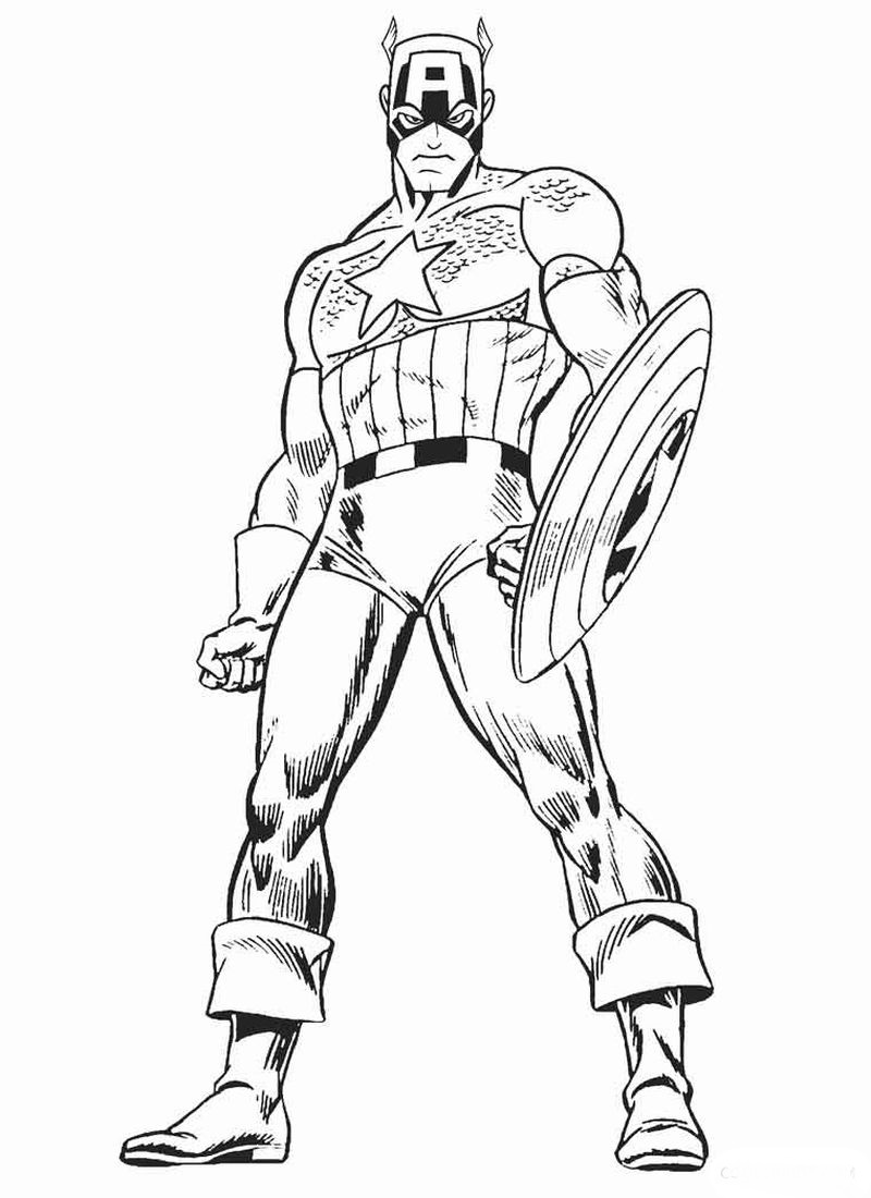 Avengers Coloring Pages Captain America Vs Ironman