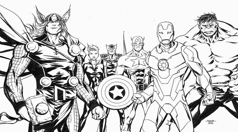 Avengers Coloring Pages For Kids Printable