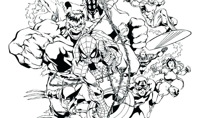 Avengers Coloring Pages Online