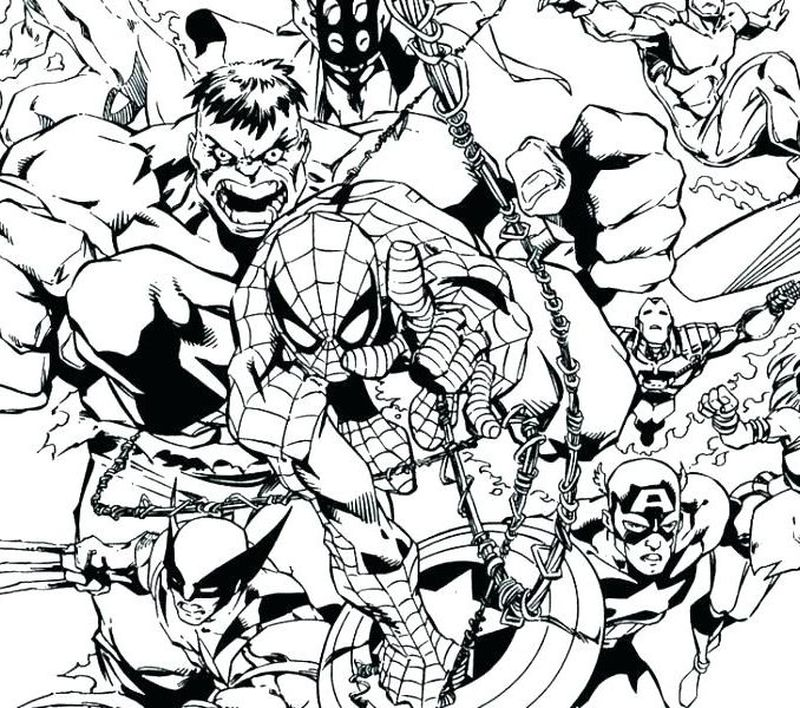 Avengers Earths Mightiest Heroes Coloring Pages