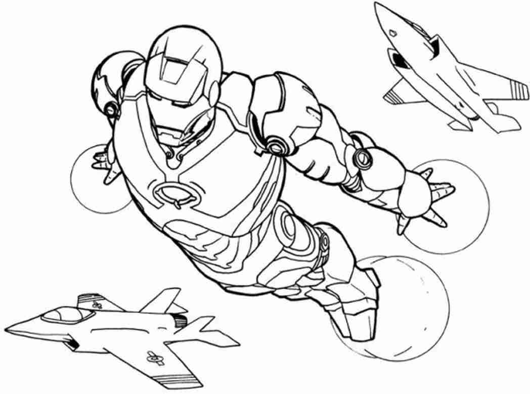 Avengers Endgame Iron Man Coloring Pages
