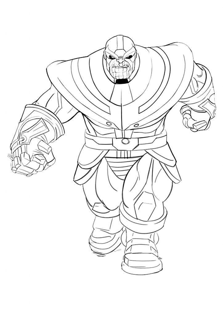 Avengers Endgame Thanos Coloring Pages