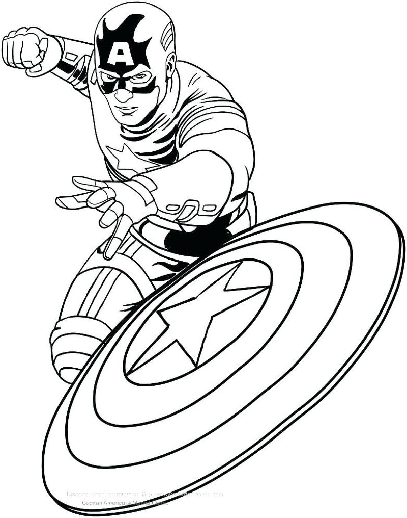 Avengers Falcon And Captain America Coloring Pages