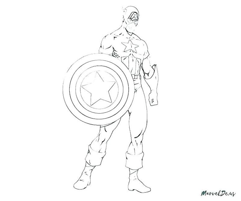 Avengers Infinity War Coloring Pages Captain America