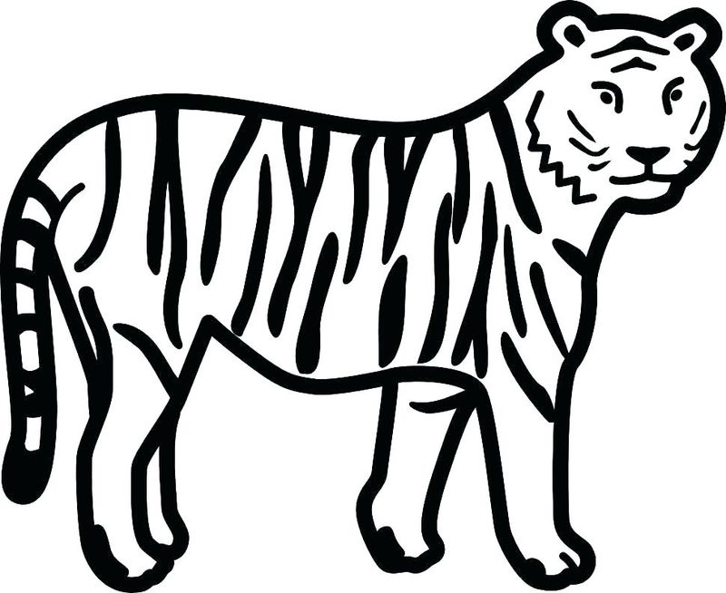 Awesome Tiger Coloring Pages