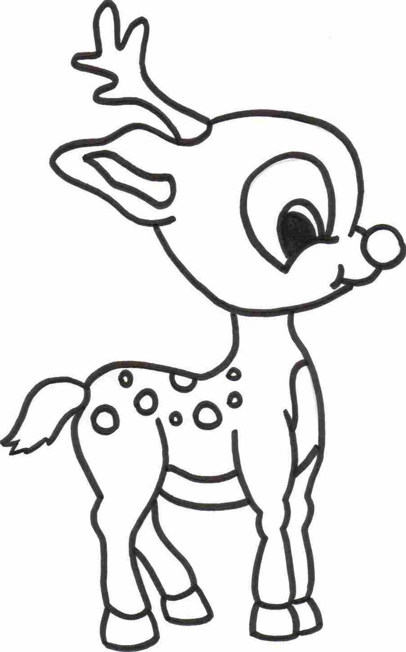 Axis Deer Coloring Pages