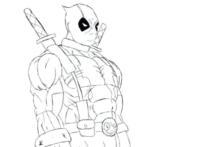 Baby Deadpool Coloring Pages