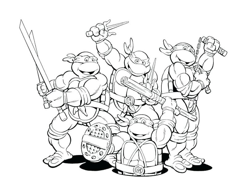 Baby Ninja Turtle Coloring Pages