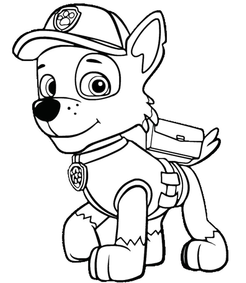 Baby Paw Patrol Coloring Pages