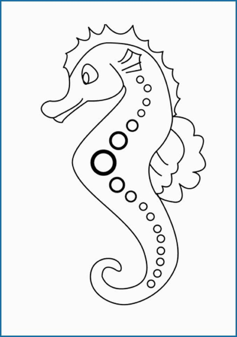 Baby Seahorse Coloring Pages