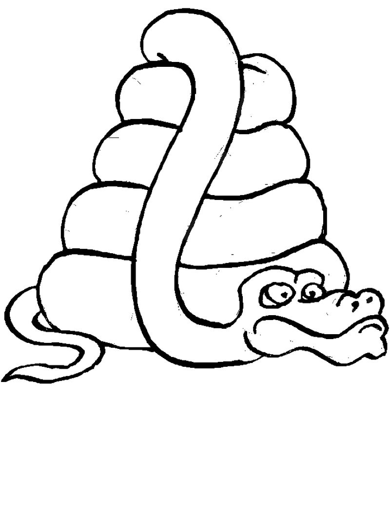 Baby Snake Coloring Page
