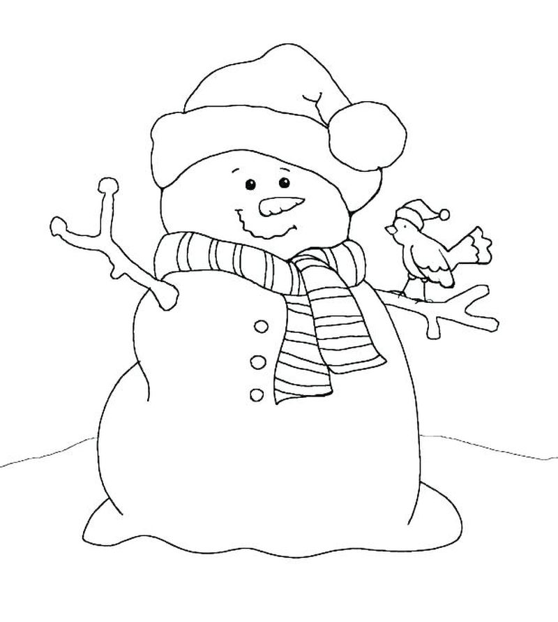 Baby Snowman Coloring Pages