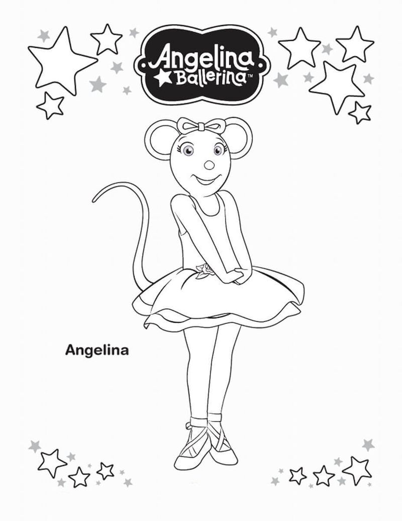 Ballerina Cat Coloring Pages